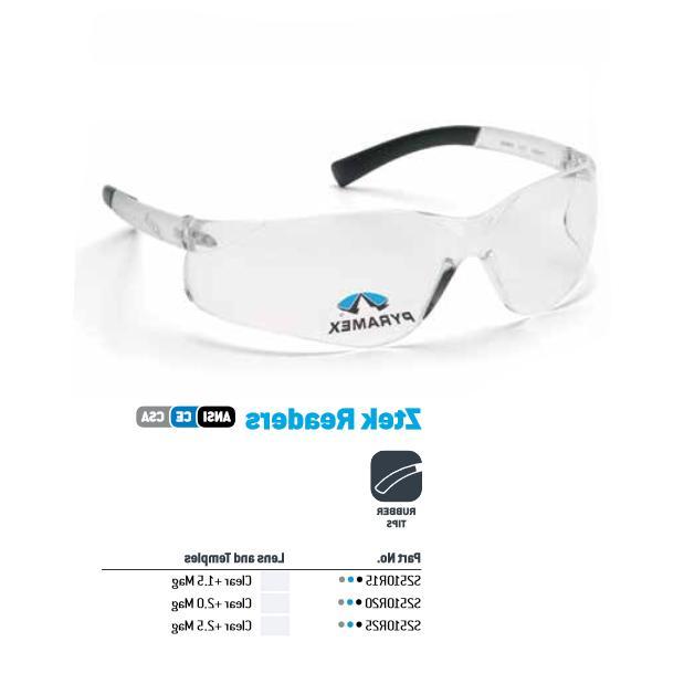 ztek bifocal safety reading glasses clear lens