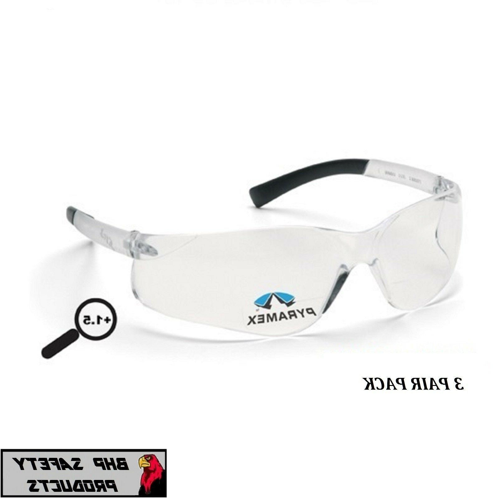 ztek reader safety glasses clear bifocal 1
