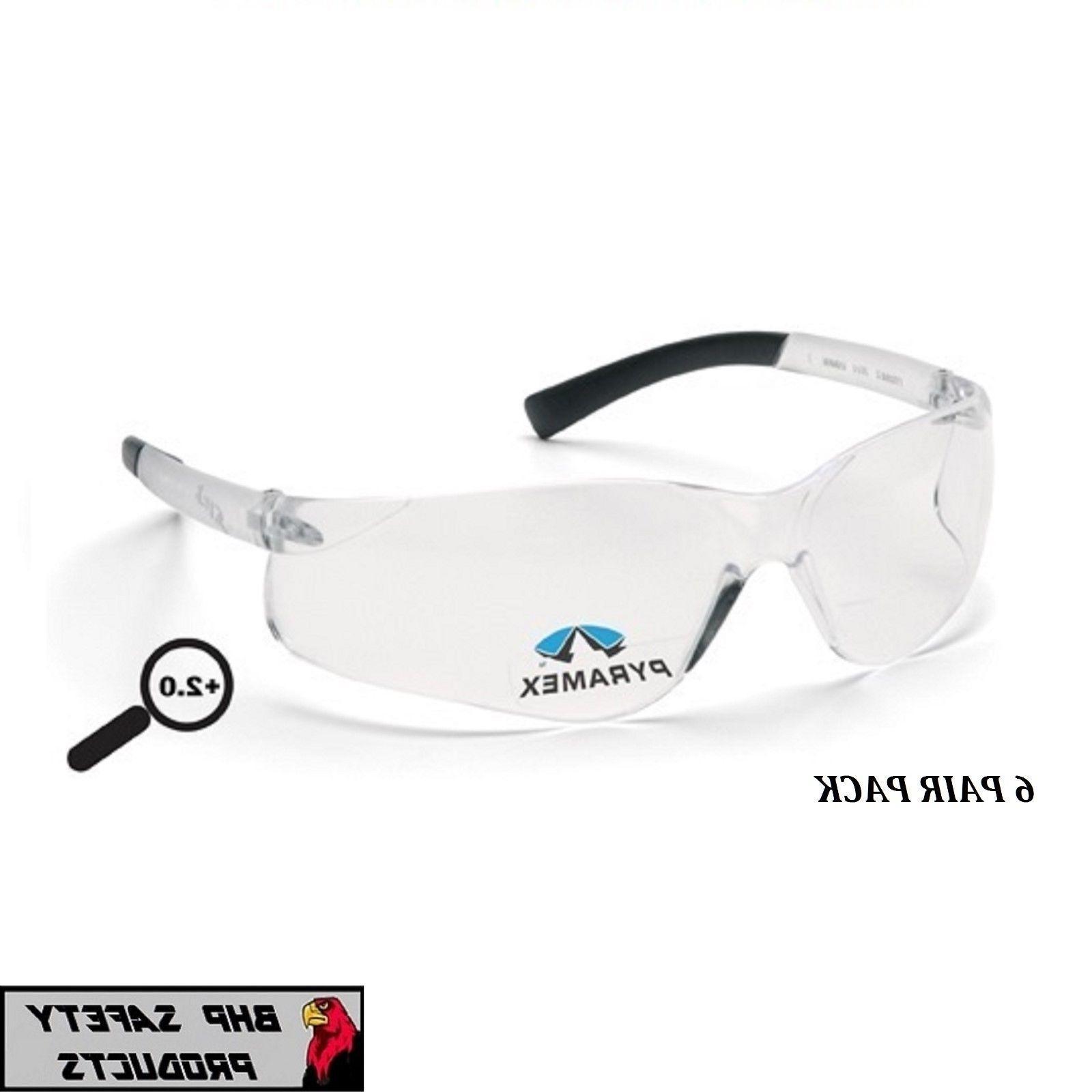 ztek reader safety glasses clear bifocal 2