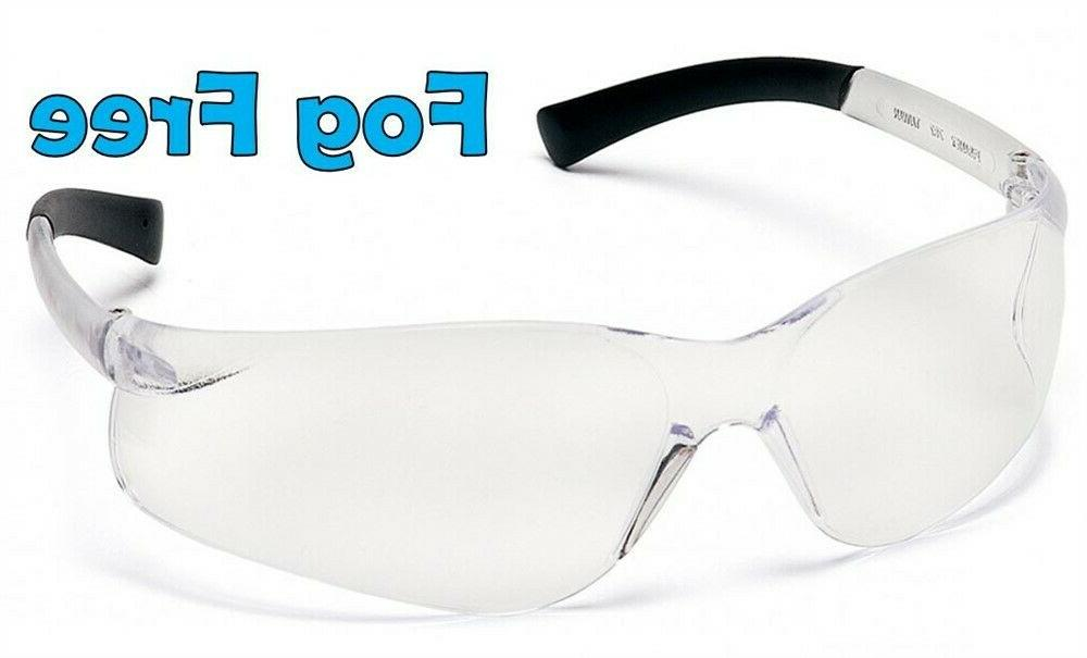 ztek safety glasses with fog free clear