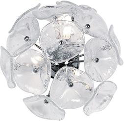 Lalique Wall Sconce - Glass Color: Clear Murano