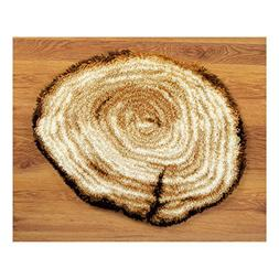 Vervaco Latch Hook Shaped Rug Tree Stump by Vervaco
