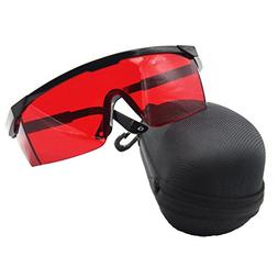 ANZESER Laser Safety Glasses with Adjustable Temple, Red Len