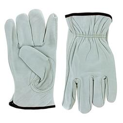 Rugged Blue Leather Driver Gloves