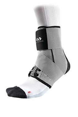 McDavid Level 3 Ankle Brace with Straps, Gray, Small