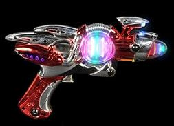 Light- Up Toy Gun - Red Laser Space Gun Blaster Toy -Noise M
