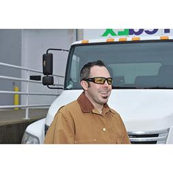 Livewire Anti-Fog Safety Glasses, Amber Lens Color - 1 Each
