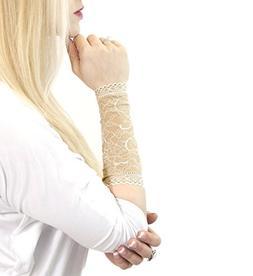 Long Lace Arm Cuff Bracelet  Stretch for Women