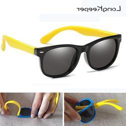 LongKeeper Kids Polarized Sunglasses Children Flexible <font