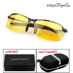 LongKeeper Polarized Night Vision Sunglasses with Case Women
