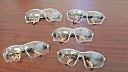 Lot of 5 Clear Safety Glasses ANSI Safety Rated, Free Shippi