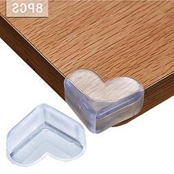 QAHEART 8PCS Love Shape Edge Corner Guards Clear Soft Collis