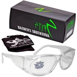 Mag-safe Full Magnifying Safety Glasses Anti-Fog 1.25 Magnif