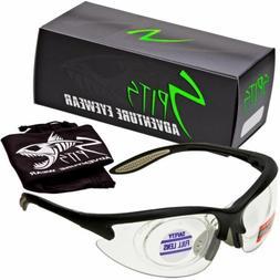MAGshot Hunting Shooting Safety Glasses Black Frame Full Mag