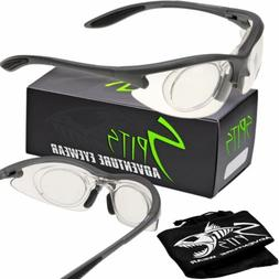 MAGshot Hunting Shooting Safety Glasses Gray Frame Full Magn