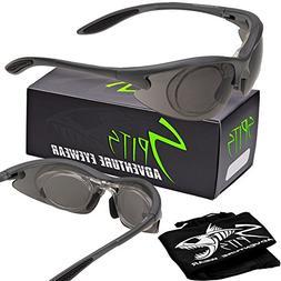 Magshot Safety Glasses Grey Frame - Safety Compliant ANSI Z8