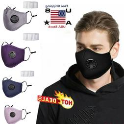 Mask Respirators Anti fog Washable Reusable Face Single Valv