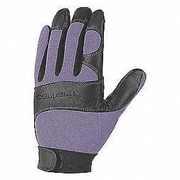 CARHARTT Mechanics Gloves,Women's L,Blue/Blk,PR, WA659-BLDBL