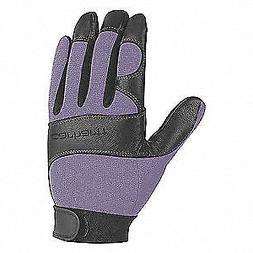 CARHARTT Mechanics Gloves,Women's S,Blue/Black,PR, WA659-BLD