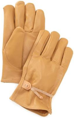 Carhartt Men's Full Grain Leather Driver Work Glove, Brown,