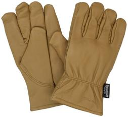 men insulated grain leather driver