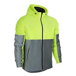 LukLoy Men's 3M Reflective Jacket Safe Cool Flash Fashion fo