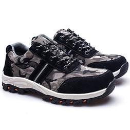 YING LAN Men's Camo Steel-Toe Safety Protective Work Industr