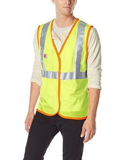 Carhartt Men's High Visibility Class 2 Vest,Brite Lime,X-Lar