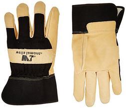 Mens Grain Pigskin Leather Work Gloves