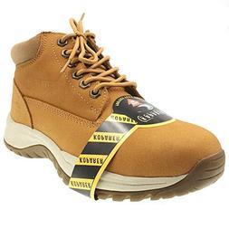 Amoji Mens Steel Toe Work Shoes Waterproof Safety Boots Punc