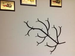 Metal Branch Style Coat Rack. Made From Solid Round Stock St
