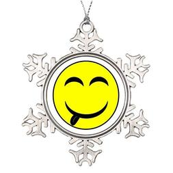 Metal Ornaments Tree Branch Decoration Smiley Face Yum-O! s