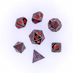 Die Hard Metal Dice RPG Set + Metal Case - Sinister Chrome w