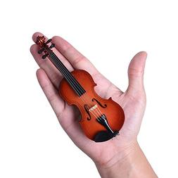 Mini Violin Miniature Wooden Musical Instruments Collection
