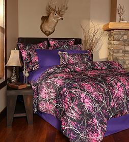 Carstens Muddy Girl Camo 4 Piece Comforter Bedding Set, King