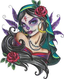 Muerta by Alayna Magnan Pretty Tattooed Woman Day of the Dea