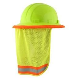 Neck Sun Shield For Hard Hats Hi Visibility Mesh - Hi Viz Li