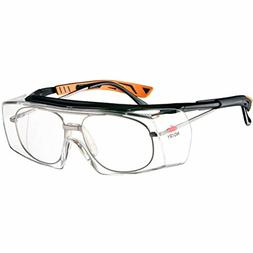 NoCry Over-Glasses Safety Glasses - with Clear Anti-Scratch