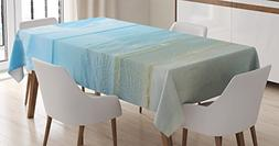 Ocean Tablecloth by Ambesonne, Sunny Summer Day at the Sandy