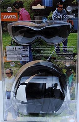 New Oem Stihl Safety Glasses Smoke Lens & Hearing Protector