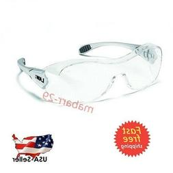 Crews OG110AF Law Over the Glasses Safety Glasses- Clear Ant