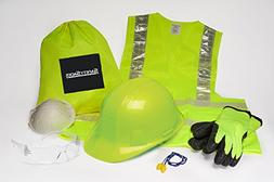 Safety Sacks All-in-One Construction Safety Kit, Hard Hat, H