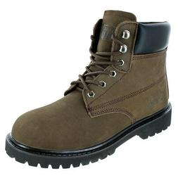 Rugged Blue Original Soft Toe Work Boots - Brown