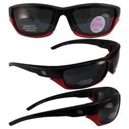 Birdz Eyewear Oriole-2 Padded Motocycle Riding Sunglasses Bl