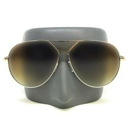 OVERSIZED VINTAGE 70's RETRO Style SUN GLASSES Large Gold Me