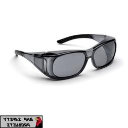 Elvex OVR-Spec II Safety Glasses with Smoky Frame and Gray L