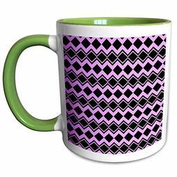 3dRose Patricia Sanders Creations - Purple and Black Diamond