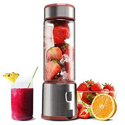 Personal Glass Smoothie Blender, Kacsoo S610 USB Rechargeabl