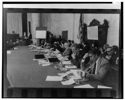Photo: Senators,Senate Caucus Room,Watergate Hearings,Sam Er