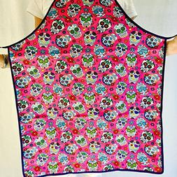 Pink Day of the Dead Skulls Apron for Women